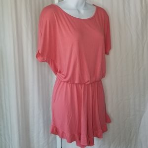 VOLL S/S Romper   Coral   Size Med